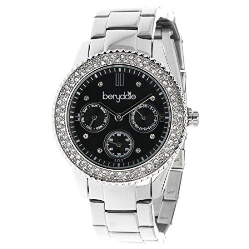 Berydale Damen Armbanduhr mit Metall-Gliederband und Quarzwerk, BD701-2