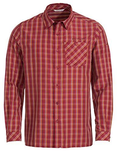 VAUDE Herren Hemd-Bluse Men's Albsteig LS Shirt II, Carmine, XL, 41809, rot (Carmine)