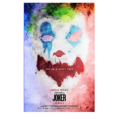 HD-Druck Poster druckt Joker Poster Filmkunst Leinwand Ölgemälde Wandbilder für Wohnzimmer Wohnkultur A1 40x60CM (kein Rahmen)