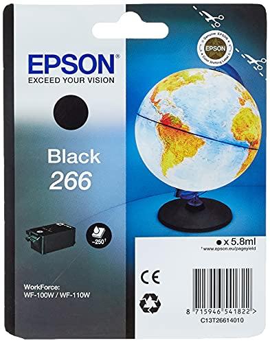 Epson 266 Serie Mappamondo, Cartuccia originale getto d'inchiostro, Formato Standard, Nero