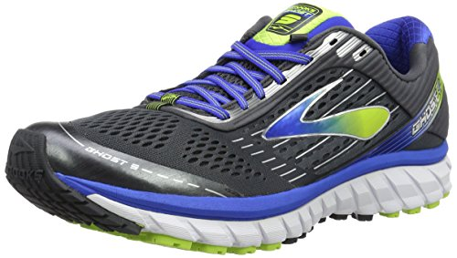 Brooks Ghost 9, Scarpe Running Uomo, Multicolore (Anthracite/Electric Brooks Blue), 41 EU