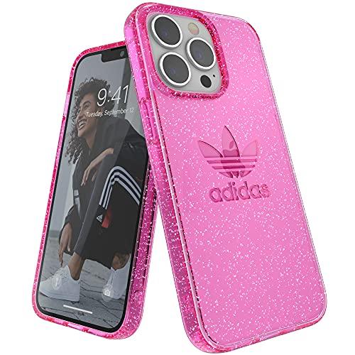 adidas Funda Teléfono Diseñada para iPhone 13 Pro, Fundas Probadas contra Caídas, Bordes Elevados a Prueba De Golpes, Funda Protectora, Purpurina Rosa