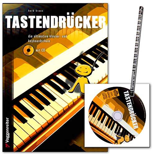 Tastendrücker - Die ultimative Klavier- und Keyboardschule von Kraus Herb - zahlreiche Tipps und Tricks - Lehrbuch mit Musik-Bleistift
