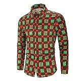 eihejiancai Camisa de los hombres hawaiana casual camisa masculina ajuste verano patrón camisas para hombre vestido camisas más tamaño, multicolor, M