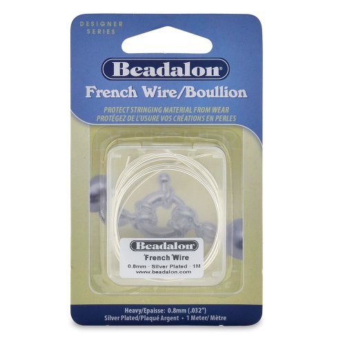 Beadalon French Wire 0.8mm Silver Plated, 1-Meter