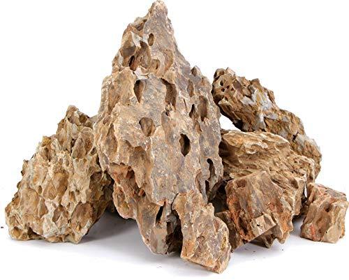 TM Aquatix Decoración de acuario de piedra de dragón pecera, adorno natural 3 kg