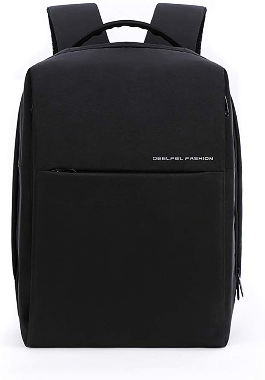 Men's Backpack Laptop Backpack Trend Youth Travel Bag Large Capacity,Black