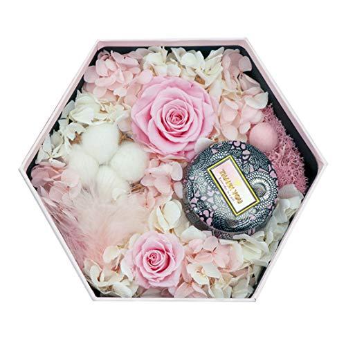PUDDINGHH® Vela, Vela, Vela perfumada Boda de Lujo Regalo de Boda Día de la Madre Práctica propuesta de cumpleaños Confesión Rosa Flor eterna Caja de Regalo, Aire Suave,Pink