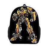 NIWTHR Unisex Children Transformers School Backpack-Boys Girls Mini Bookbag Travel Bag Bumblebee Rucksack for Preschool