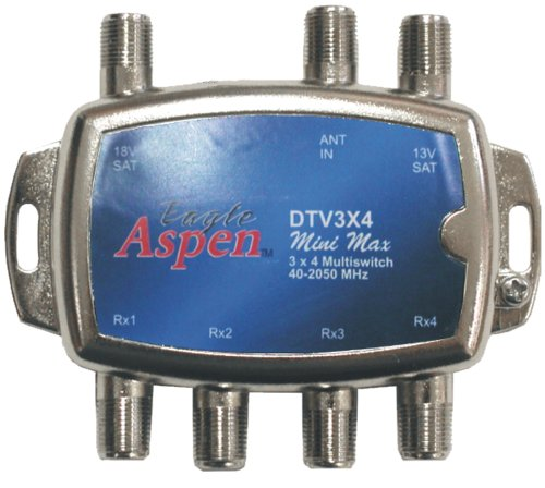 Eagle Aspen DTV3X4 DirecTV-Approved Min-Max 3-In/4-Out Multiswitch