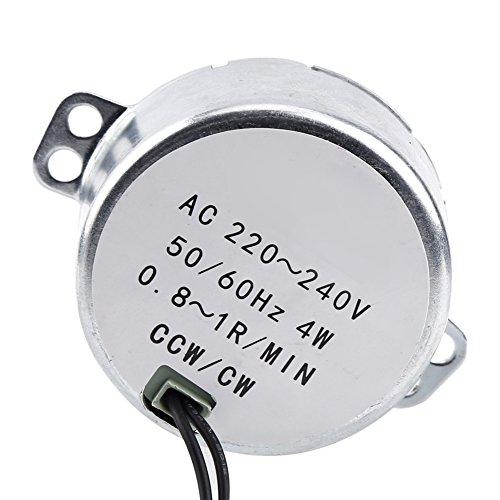 Ranvo Motor sincrónico Motor eléctrico Sincrónico Sincrónico Motor sincrónico Mecanismo de ventilación de Alto par 1pc 220-240V AC Motor de Engranajes Lámparas(0.8-1RPM)