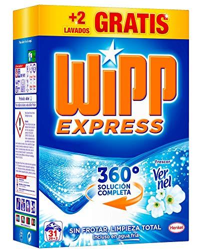 Wipp Express Detergente en Polvo Frescor Vernel - 31 Lavados (2,015 Kg)