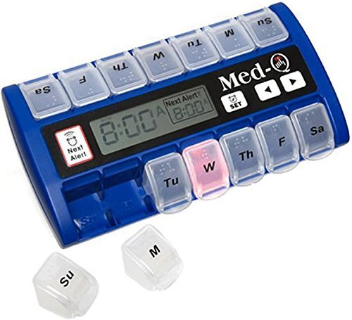 Image of MED-Q Digital Pill Box, Single Beep Alarm and LED Alert