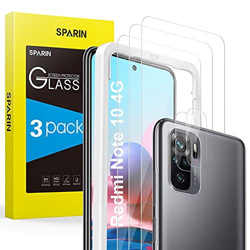 SPARIN 5 Piezas Protector de Pantalla para Xiaomi Redmi Note 10 4G...