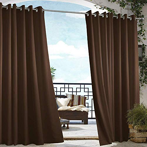 DREAM ART Outdoor Waterproof Patio Curtains Drapes Canopy Gazebo...