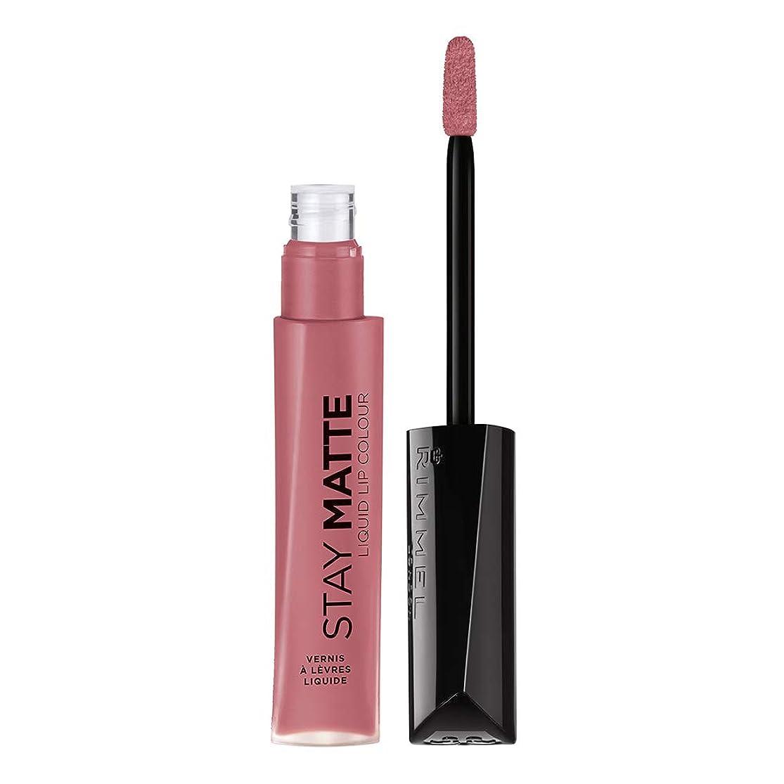 の頭の上運命有名RIMMEL LONDON Stay Matte Liquid Lip Color - Blush (並行輸入品)
