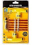 TANN Kit Antipinchazos Coche para Todo Tipo de neumáticos, Kit repara Pinchazos Coche, Moto, Bicicleta - MTB con 5 mechas y Herramientas para Reparaciones de Emergencia.
