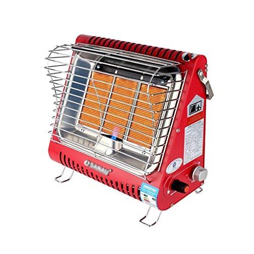 Estufa Exterior Gas Calentador de Gas Licuado, Calentador de Patio de Calefacción Rápida, Calefacción Regulable 3 Marchas, Placa Calefactora de Cerámica, para Salón, Dormitorio, Terraza Calentadores