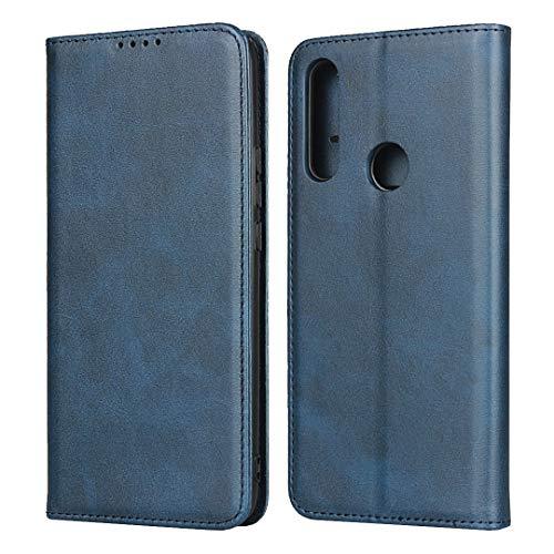 FAWUMAN Coque pour Huawei P Smart Z,Housse en Cuir Premium Flip Portefeuille,3 Fentes de Carte, Stand Fonction, Fermeture magnétique,Magnétique Flip Etui pour Huawei P Smart Z (Bleu)