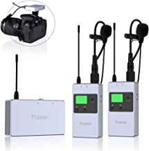 Wireless Microphone System, TRAVOR Wireless Lavalier Microphone Set with UHF 50 Channels Rechargeable Transmitter Receiver Microphone for Teaching,Preaching and Public Speaking Applications