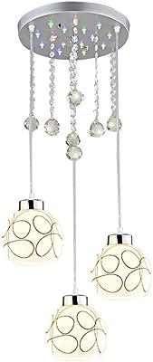 MiniSun - Lámpara de techo colgante globo con 3 luces en ...