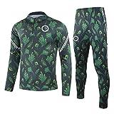 QJY Camisa de Manga Larga de la Manga Larga de Nigeria Football Jersey Camisa de la Mitad de la Camisa de la Gimnasia de los Pantalones Traje de Entrenamiento del Equipo (Size : S)