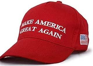 Make America Great Again Hat MAGA Donald Trump Slogan with USA Flag Cap Adjustable Baseball Hat Red