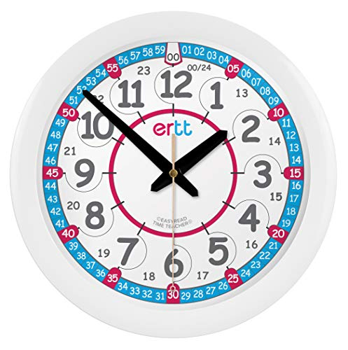 Reloj infantil de pared EasyRead Time Teacher, que indica la