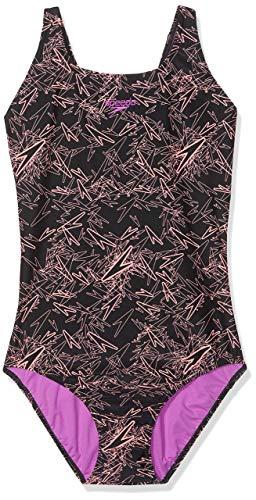 Speedo Boom Allover Muscleback Intero, Costume da Bagno Donna, Black/Flash, 30 (IT 40)