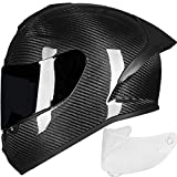 ILM Carbon Fiber Motorcycle Street Bike Full Face Helmet...