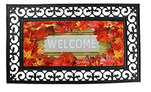 ForestScape Thanksgiving Decorative Doormat, Outdoor Holiday Doormat, Fall Doormat, Welcome Doormat