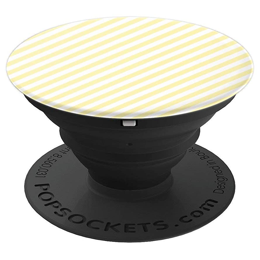 Pastel Yellow Diagonal Stripes Design Pop Socket - PopSockets Grip and Stand for Phones and Tablets