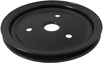 Pirate Mfg SBC Chevy 283-350 Black Steel SWP Single Groove Crankshaft Pulley