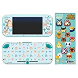 Controller Gear Authentic and Officially Licensed 2-Pack Animal Crossing: New Horizons - 'Outdoor Pattern' Nintendo Switch Lite Skin & 'It Takes A Village' Tech Decal - Nintendo Switch