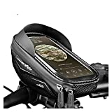 Feifei Sac de téléphone Vélo Vélo Fort Rain TPU TPU Touch Touch Porte-Téléphone Porte-Célecteur Bicyclettes Sacs de Poche VTT Cadre (Color : Black)