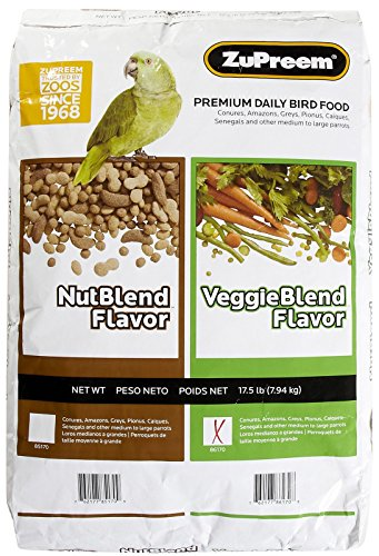 Zupreem veggieblend All Natural Flavor Premium Daily Pet Bird Food 17.5lbs