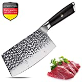 Meat Cleaver 7 Inch Cleaver Knife Chinese Chef Knife German Steel Chopper Cleaver Butcher Knife for...