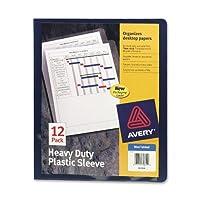 Avery Heavy Dutyプラスチックスリーブ、ブルー、12パック(72610)