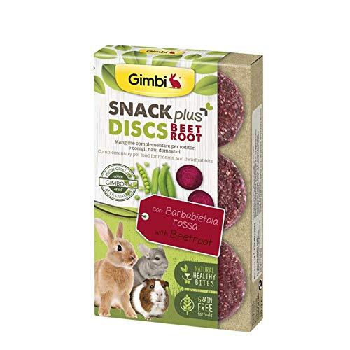 Gimbi Snack Plus Snack Grain Free Snack für Kaninchen für Nager 50 g (Discs Beetroot Rote Beete Discs)