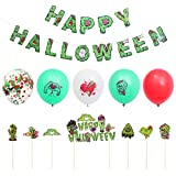 IMIKEYA 1 Set 34pcs String String Balloons Halloween Torta Toppers Fiesta Ornamentos Colgantes
