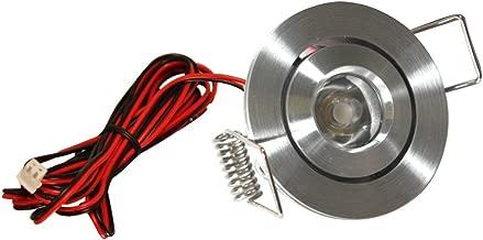 American Lighting LMS-AL LED Mini Swivel Puck Light, 1.25-Watts, 3000K Bright White, Dimmable, Satin Aluminum