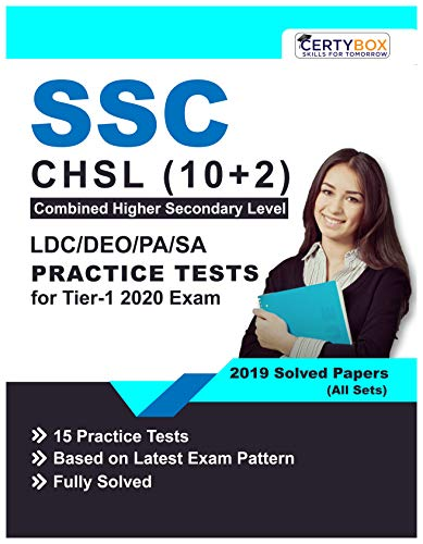 SSC CHSL(10+2) LDC/DEO/PS/SA Practice Tests for Tier-1 2020 Exam (English Edition)