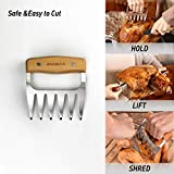 AidMax Meat Claws Forks, Stainless Steel Meat Shredder Handler Claws,Grilling Paws for Easily Lift, Handle, Shred, and Cut Meats, Essential for BBQ Lovers(2pcs/Gift Box)