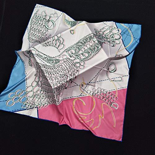 Zijde dames sjaal sjaal vierkant mode oversized zakdoek handmatig krimpen vliegende vogel retro temperament eenvoudige vakantie geschenk ademend Thin roze