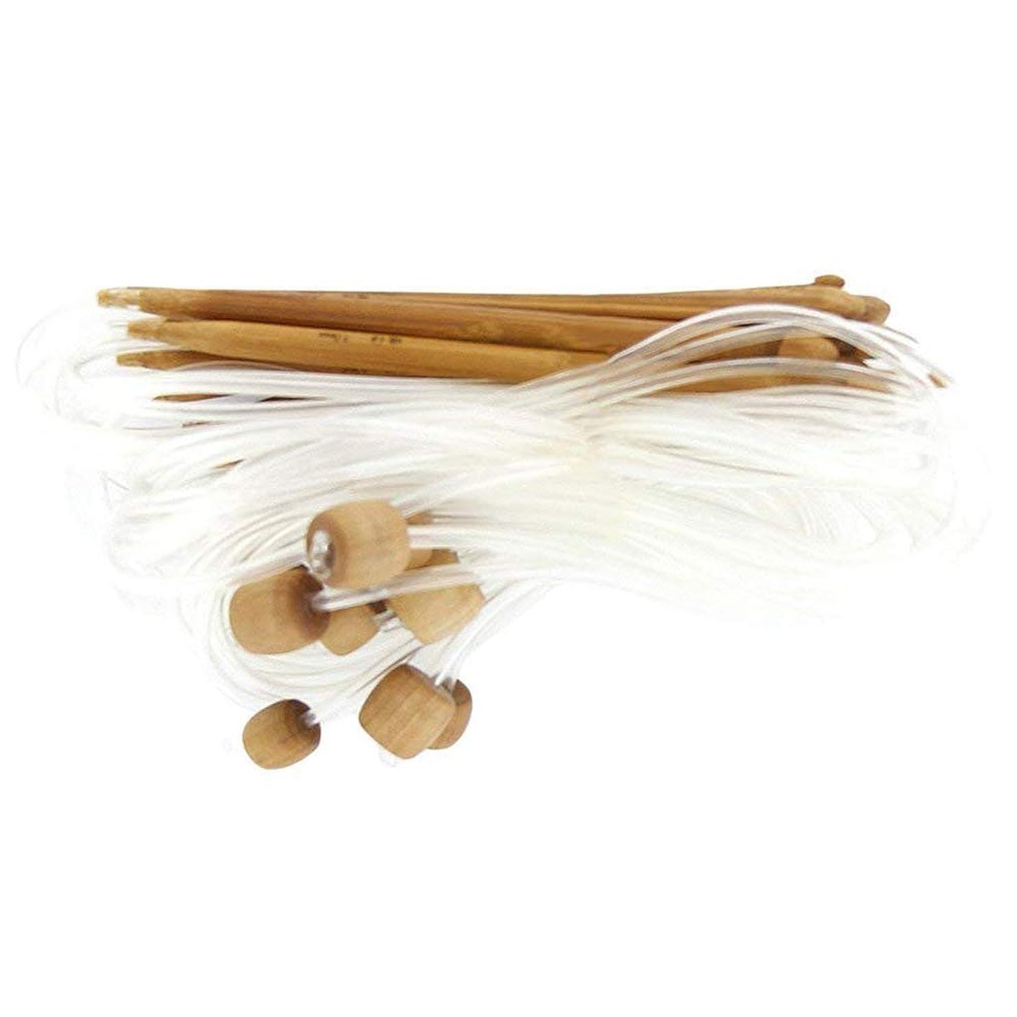 アラビア語アレイゼリーOnior フック編み針炭化セーター針かぎ針編みパール手作り織りツール12個/セット