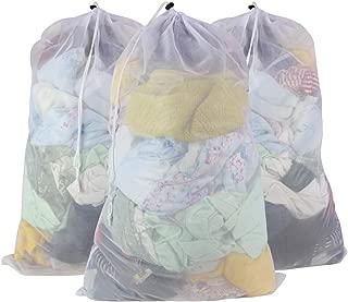 SLEPL Mesh Laundry Bags,Mesh Laundry Bags,Travel Storage Organize,Laundry Bra Lingerie Mesh Wash Bags for Blouse, Bra, Hosiery, Stocking, Underwear (White)