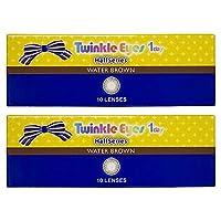 トゥインクルアイズ ハーフ シリーズ TwinkleEyes 1day half series ワンデー 【カラー】ウォーターブラウン 【PWR】-1.25 10枚入 2箱