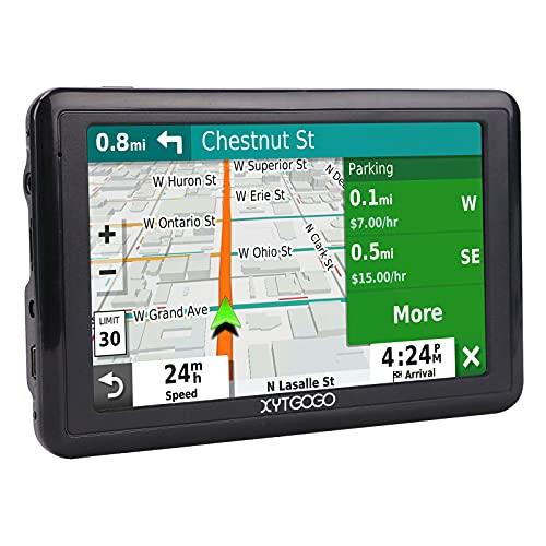 XYTGOGO Navegador - Navegador GPS con mapas de por Vida y tráfico Digital (Pantalla de 5', Mapa 2D 3D Europa Completo)