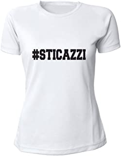 cf6235f04dab6a Altra Marca T-Shirt Donna Bicolore Personalizzata Maglietta Femminile  Originale Sticazzi