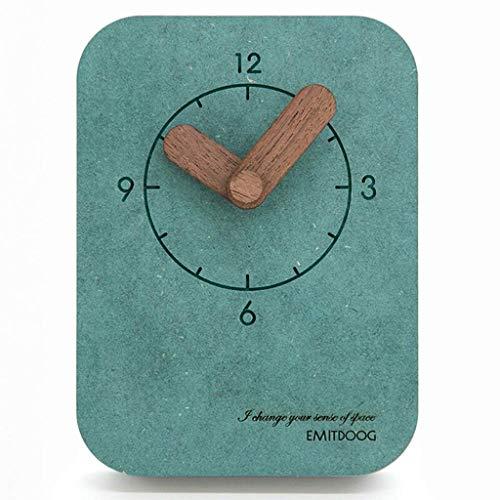 MUMUMI Reloj Despertador, Reloj Nuevo Mesa de Escritorio Moderno Americano Simple Mesa Simple Mesa Péndulo Estudiante Dormitorio Mudo Creativo de Noche Escritorio Pared Decorativo Alarma Azul,D